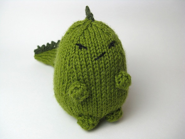 Crafty Knitting Patterns : Just Crafty Enough   Free Pattern   Grumpasaurus