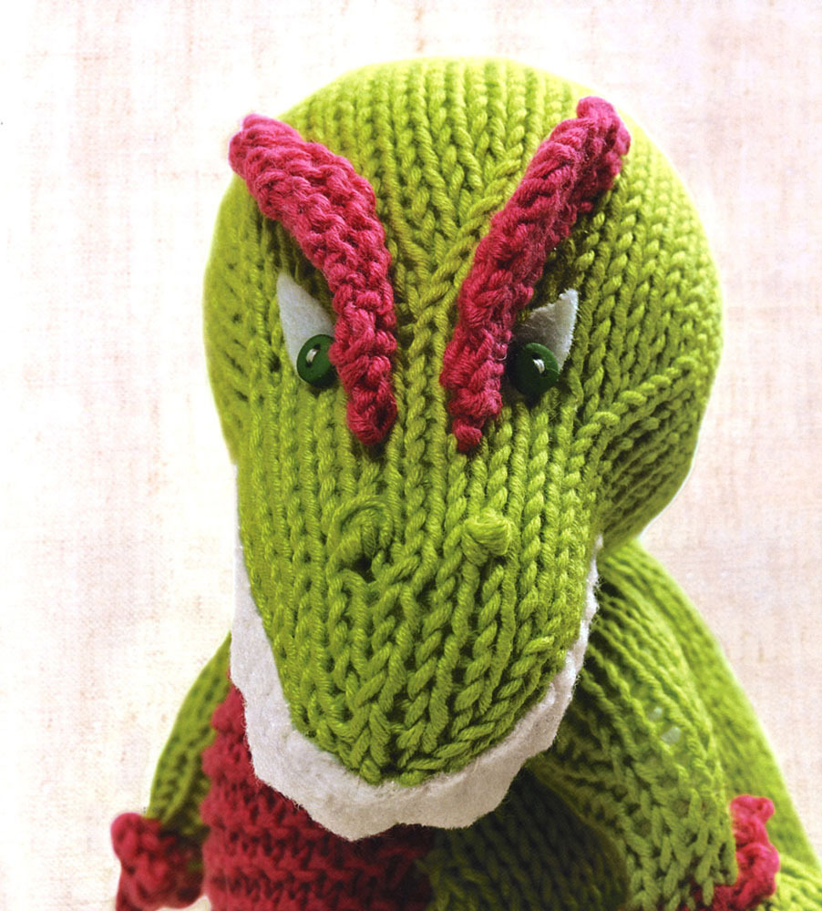 Just Crafty Enough   Knitted Dinosaurs Book Review