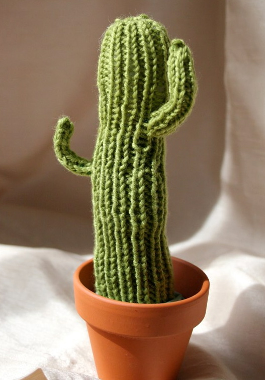 Just Crafty Enough Project Knit Saguaro Cactus