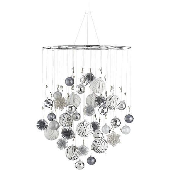 Just Crafty Enough – DIY Inspiration: Ornament Chandelier