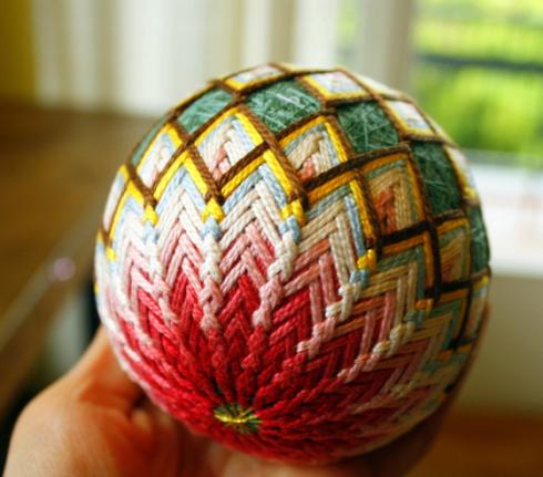 Just crafty enough temari thread balls for Japan craft
