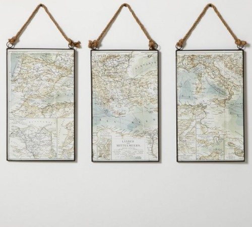 Just Crafty Enough – DIY Inspiration: Map Wall Art