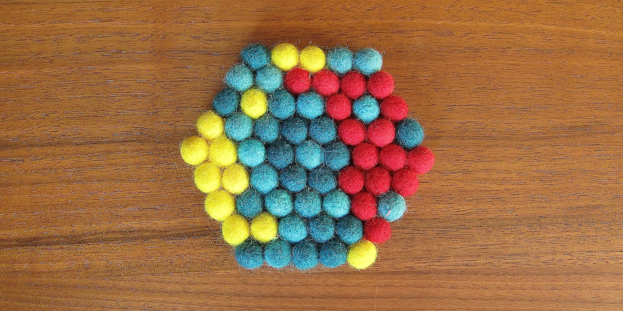 Just Crafty Enough Project Felted Ball Trivet