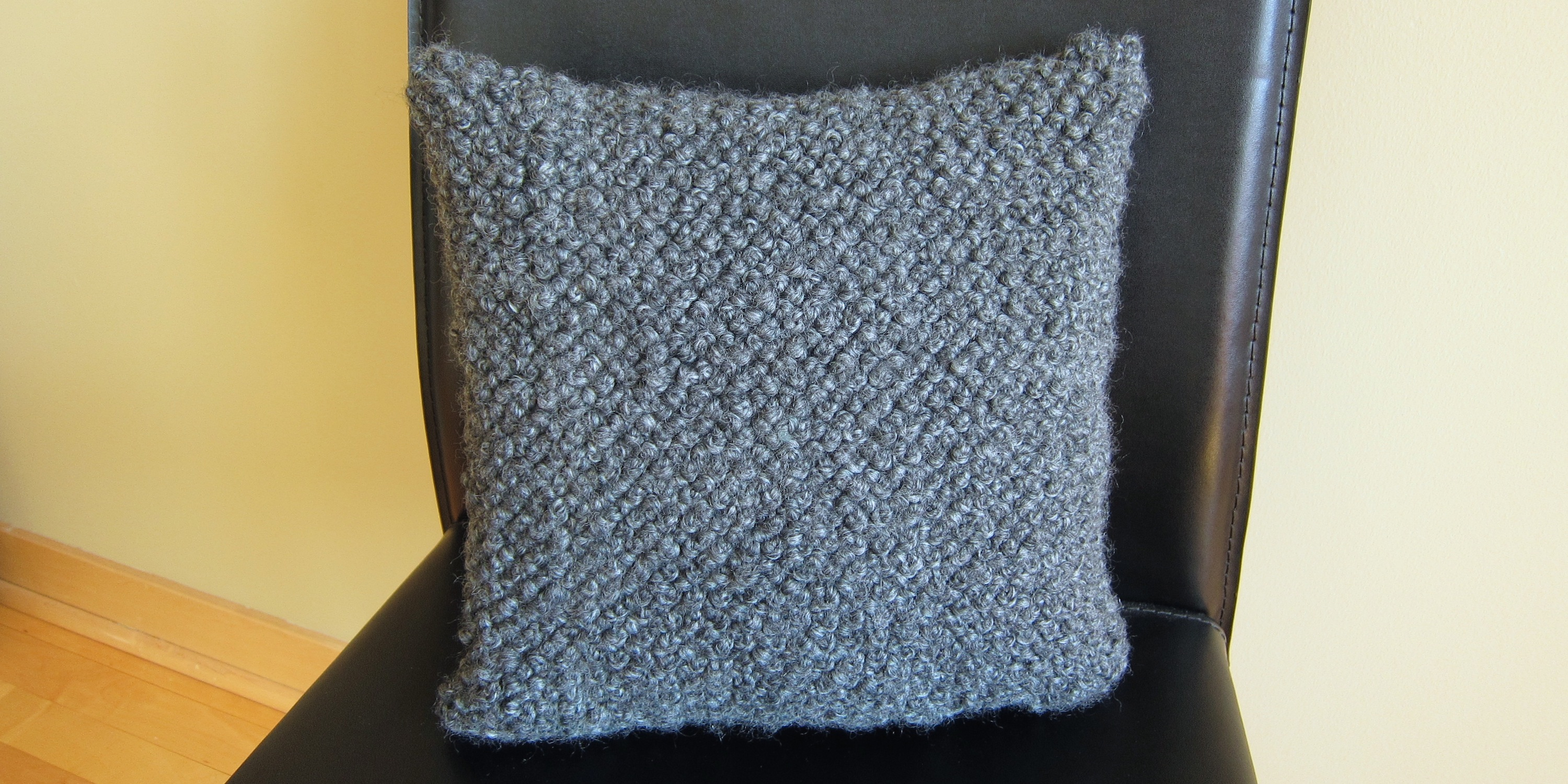 Just Crafty Enough Iron Craft 13 14 Bulky French Knot Pillow