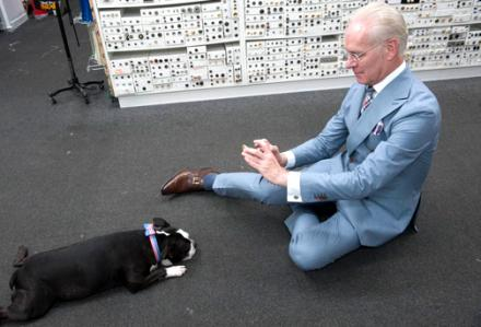 C'mon who can resist a picture of Tim Gunn taking a picture of Swatch?!