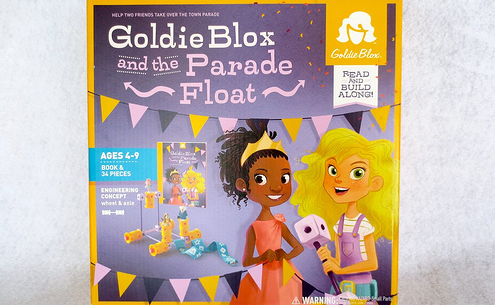 One segment of the Girl-powered GoldieBlox float. The first segment  features a girl