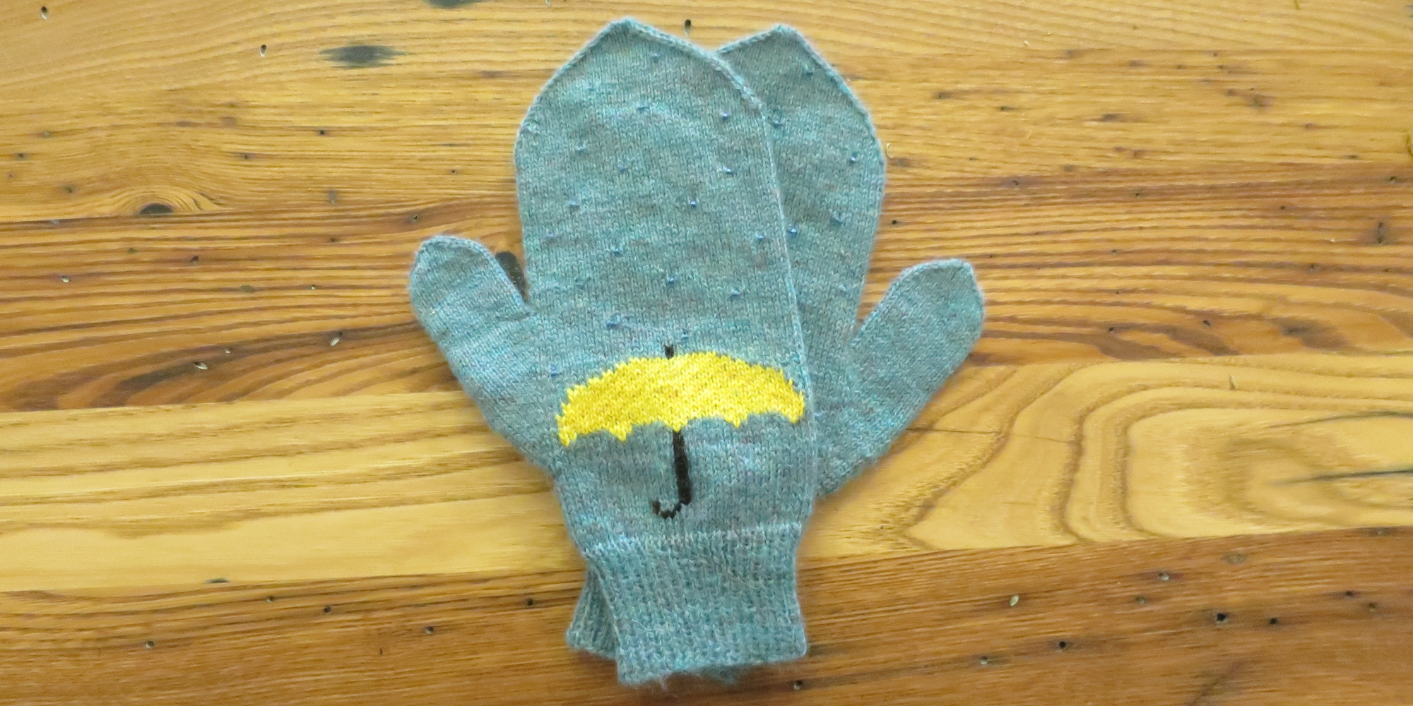 Just Crafty Enough – Project: April Showers Mittens