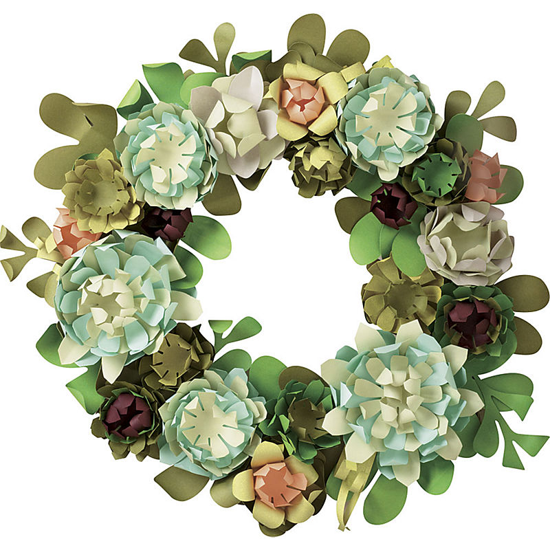 Just Crafty Enough Project Paper Flower Wreath