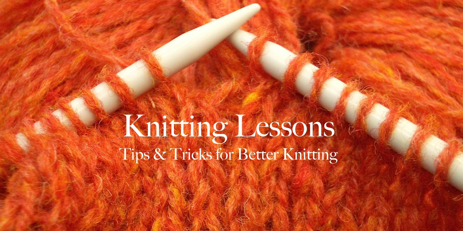 Knitting Lessons: Closing the Loop