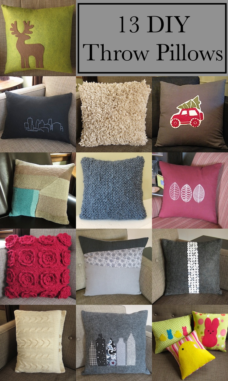 just crafty enough – 13 diy throw pillows Diy Sofa Pillows