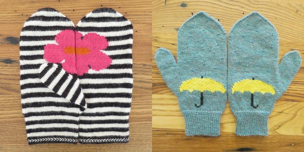 pop of chart mittens