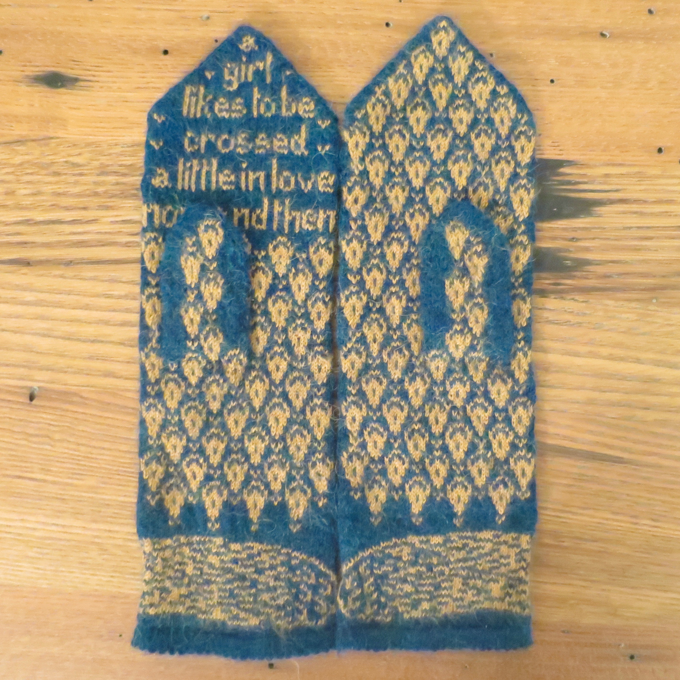 Just Crafty Enough – Pattern: Pride and Prejudice Mittens