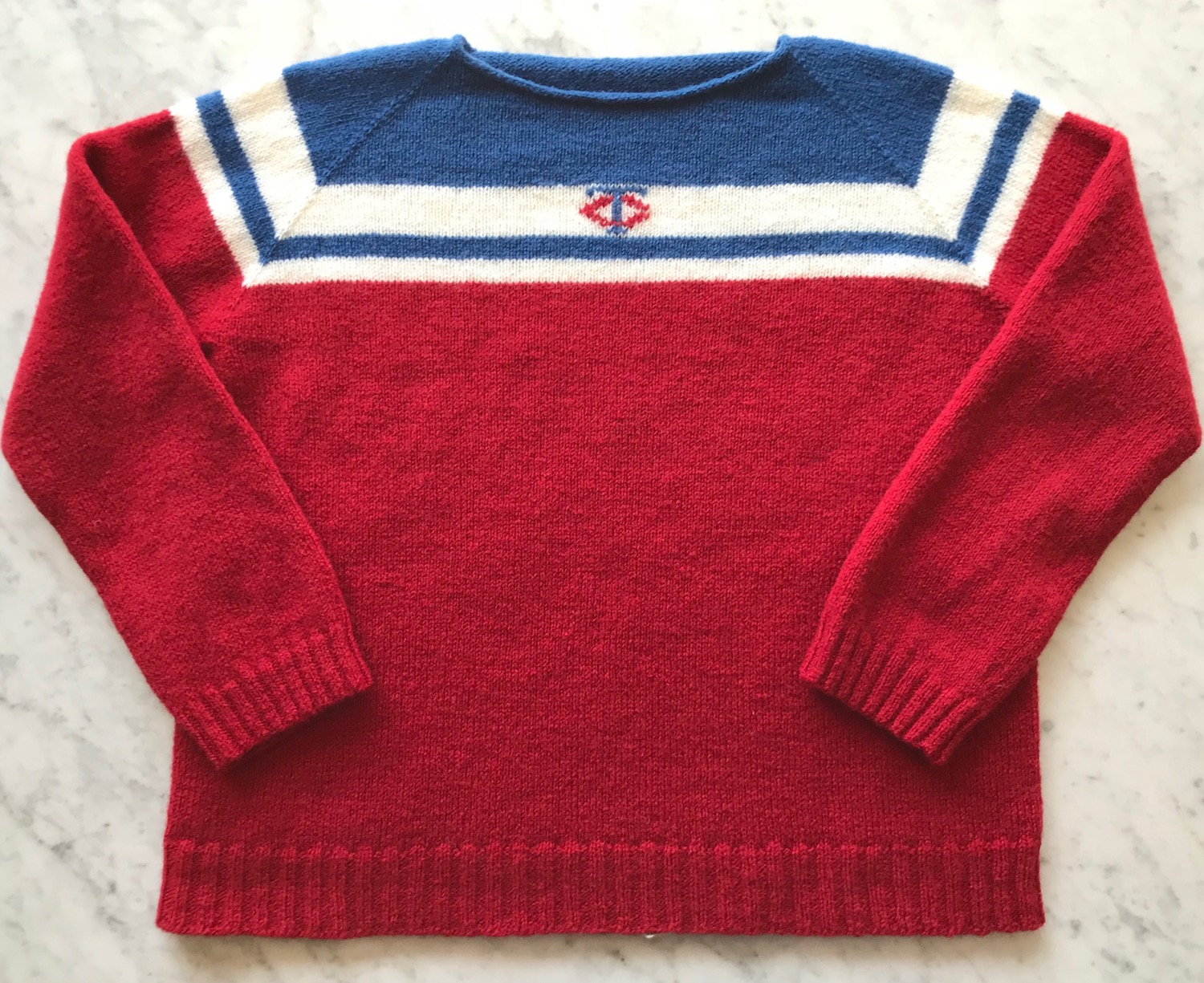 38c094396f6a Just Crafty Enough – Finished MN Twins Opening Day Sweater