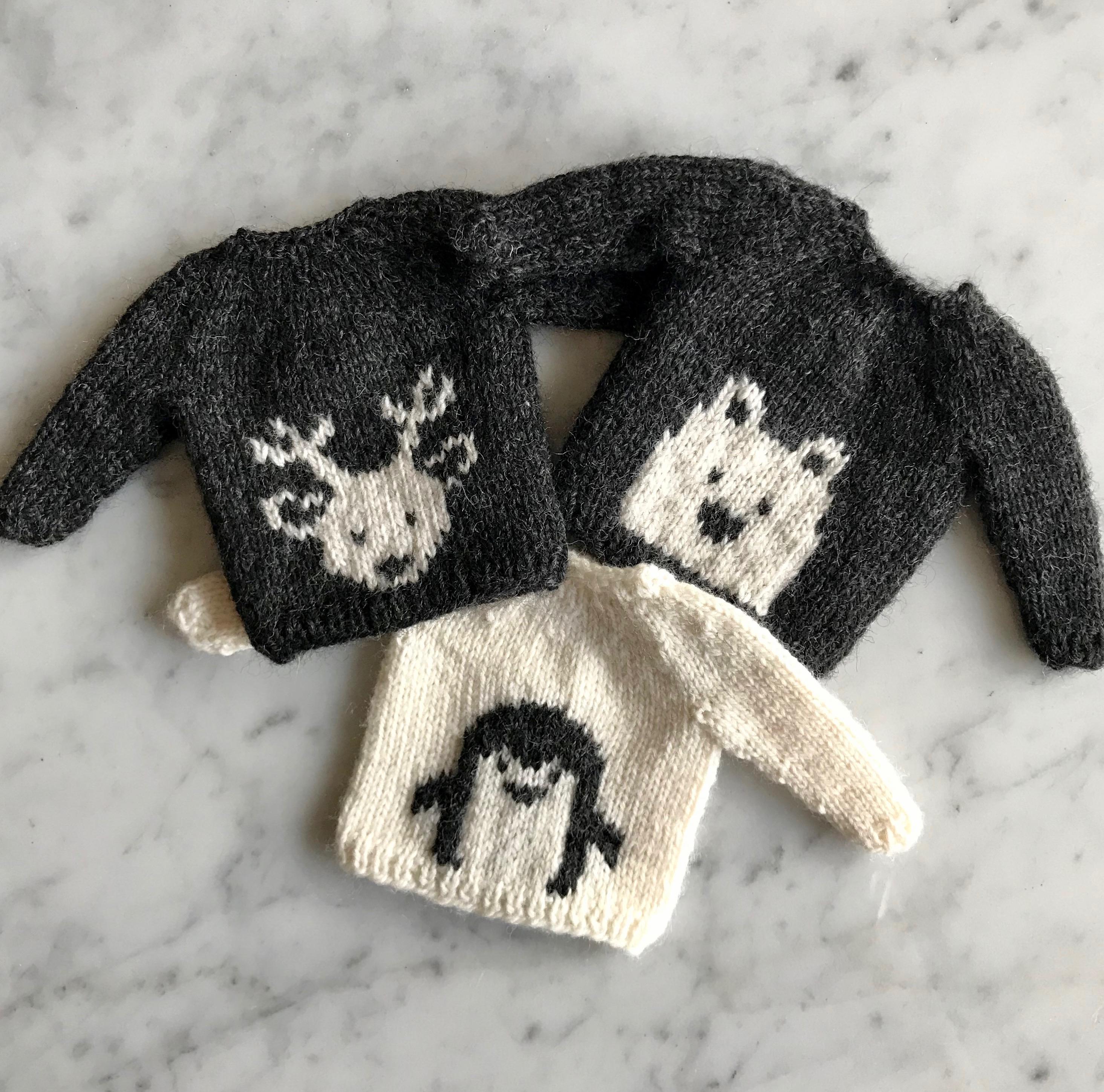 Just Crafty Enough Wee Wildlife Sweaters Polar Bear