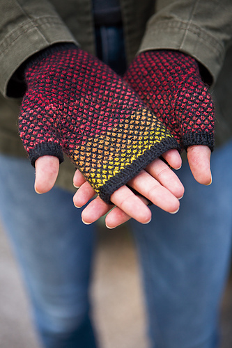 Just Crafty Enough New Knitting Pattern Peek A Boo Fingerless Mitts